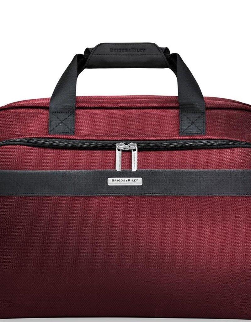 BRIGGS & RILEY TD441- 46 MERLOT CLAMSHELL CABIN BAG #