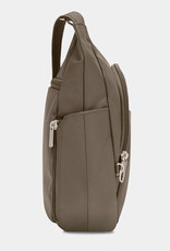 TRAVELON 42757 NUTMEG ANTI THEFT CROSSBODY BUCKET BAG