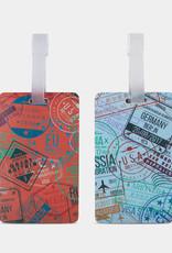 TRAVELON 13450 PASSPORT STAMPS SET OF 2 TAGS