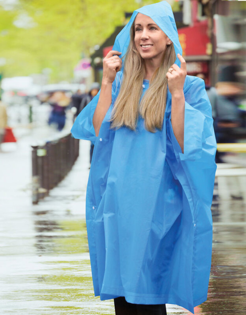 TRAVELON BLUE TRAVEL RAIN  PONCHO 13437-330 ONE SIZE FITS ALL