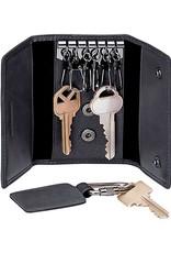 MANCINI LEATHER 52168 BLACK LEATHER KEY CASE