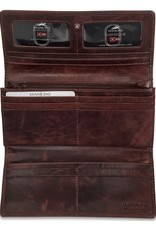 MANCINI LEATHER 95-759 RFID LEATHER LADIES CLUTCH WALLET BURGUNDY