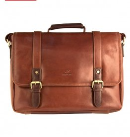 MANCINI LEATHER MANCINI LEATHER MESSENGER BAG FOR LAPTOP AND TABLET