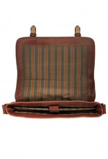 MANCINI LEATHER 95-502 LEATHER MESSENGER BAG