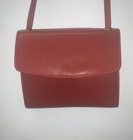 MANCINI LEATHER MANCINI RFID LEATHER WALLET ON A STRING RED
