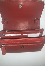 MANCINI LEATHER 17-200 RFID LEATHER WALLET ON A STRING RED