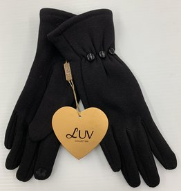 LUV COLLECTIONS GLOVES G4066 BLACK   ONE SIZE