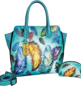 ANUSCHKA ANUSCHKA CONVERTIBLE TOTE FLOATING FEATHERS