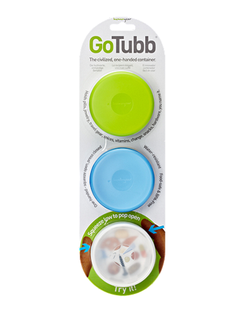 HUMAN GEAR HG0220 COR 3 PACK MEDIUM GOTUBB CLEAR/GREEN/BLUE