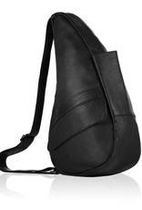AMERIBAG 5104 BLACK MEDIUM LEATHER HEALTHY BACK BAG
