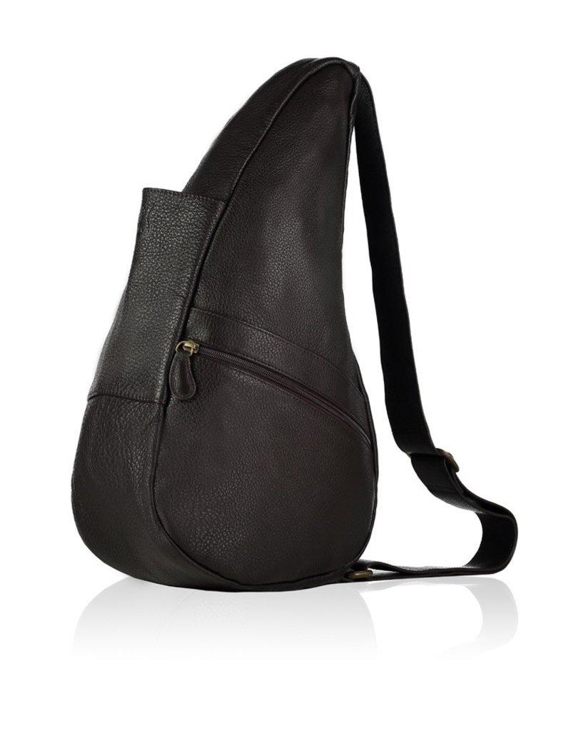 AMERIBAG 5103  BLACK SMALL LEATHER HEALTHY BACK BAG