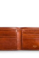 BOSCA 98-27 AMBER OLD LEATHER RFID 8 POCKET WALLET