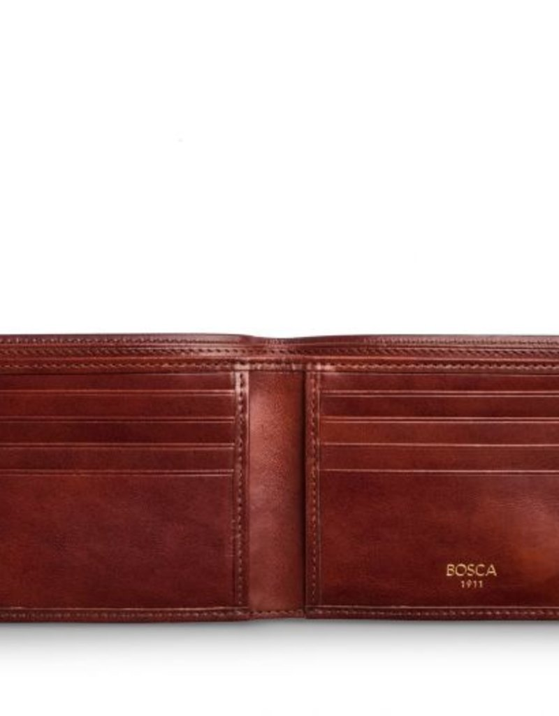 BOSCA 98-58 DARK BROWN OLD LEATHER RFID 8 POCKET WALLET