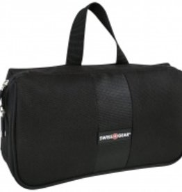SWISS GEAR TRIFOLD TOILETRY BAG BLACK