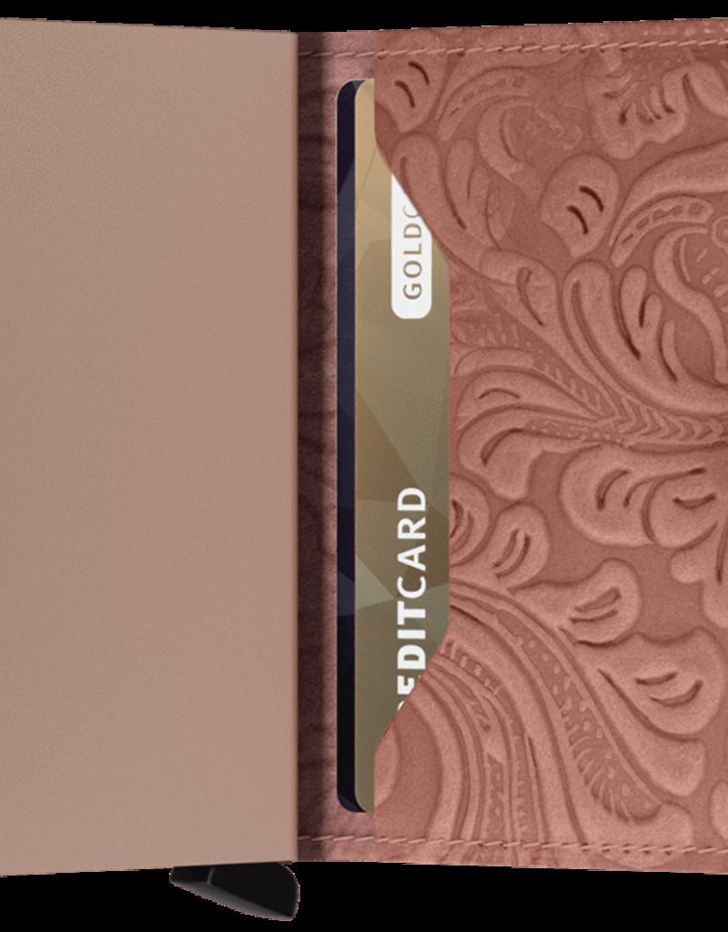 SECRID MINIWALLET RFID ORNAMENT ROSE