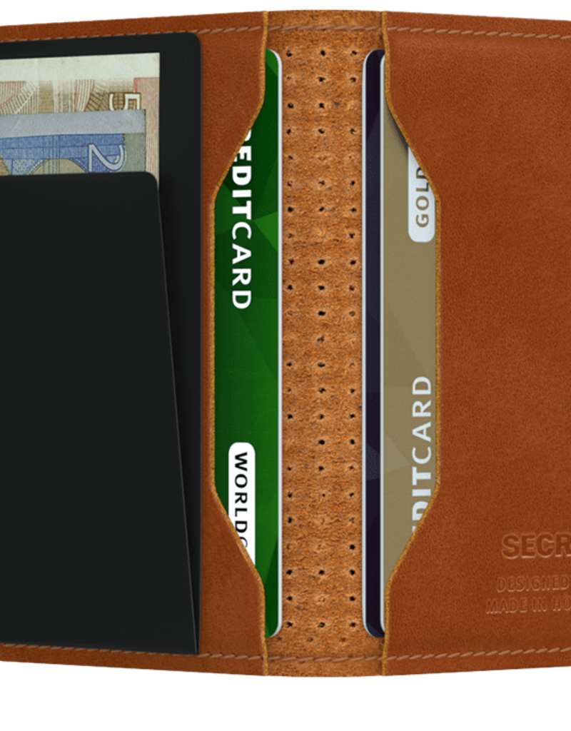 SECRID MINIWALLET RFID PERFORATED COGNAC