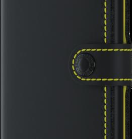 SECRID MINIWALLET RFID MATTE BLACK & YELLOW