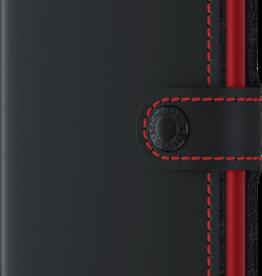 SECRID MINIWALLET RFID MATTE BLACK & RED