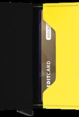 SECRID SLIMWALLET RFID MATTE BLACK & YELLOW