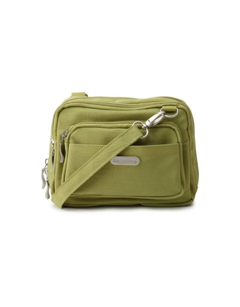BAGGALLINI TRZ419  JUNIPER GREEN TRIPLE ZIP BAGG