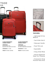 PACIFIC BANFF 21 BLACK SPINNER CARRYON SUITCASE