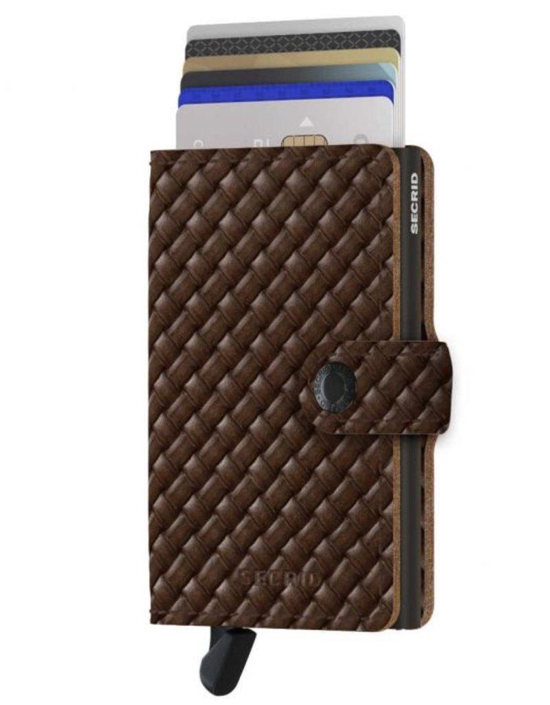 SECRID MINIWALLET RFID BASKET BROWN