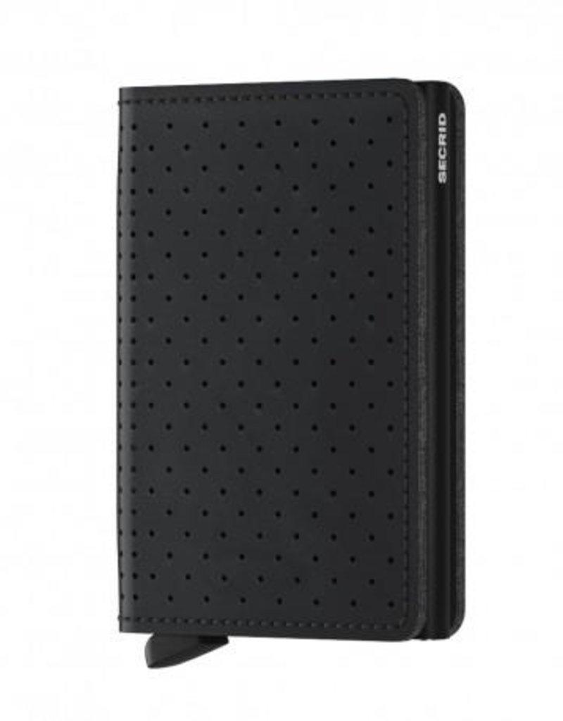 SECRID SLIMWALLET RFID PERFORATED BLACK