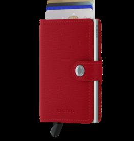 SECRID SECRID MINIWALLET RFID CRISPLE RED LEATHER