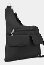 TRAVELON 42373 BLACK ANTI-THEFT CLASSIC CROSS BODY BAG