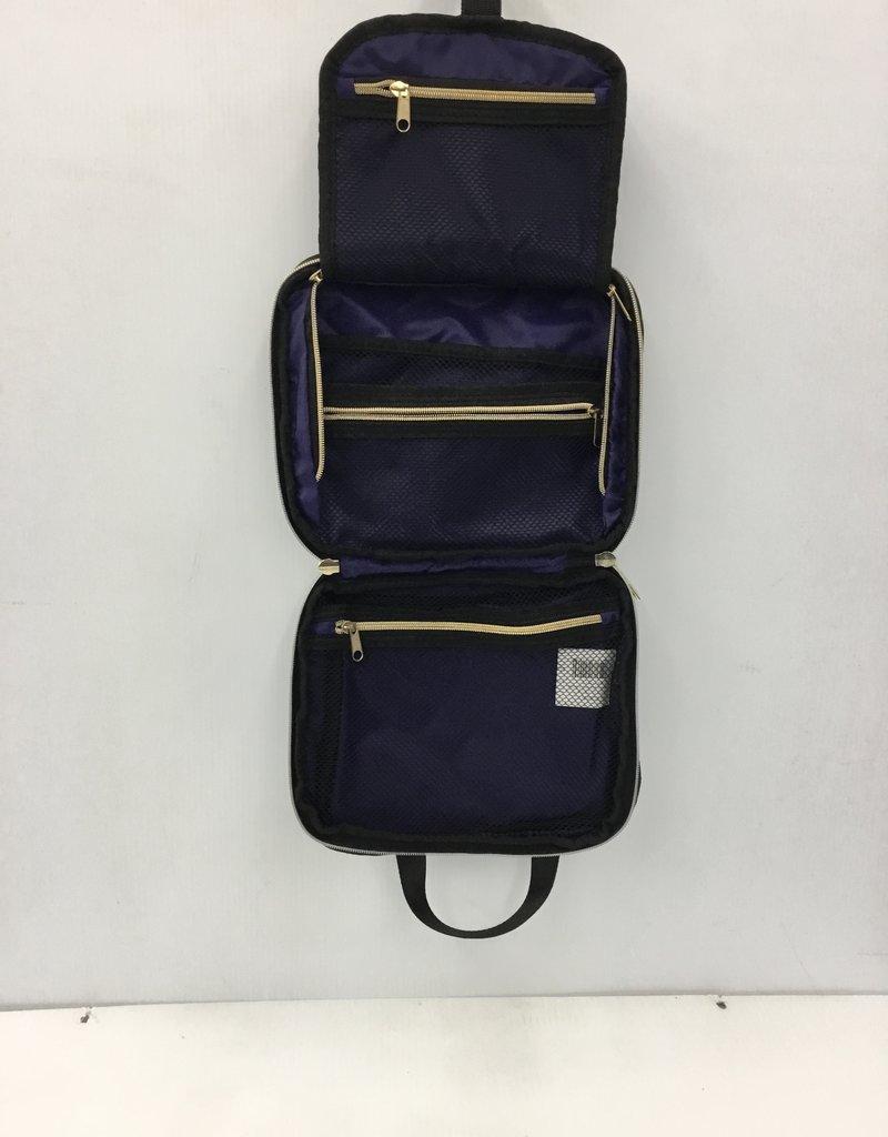 COSMOPOLITAN HANGING TOILETRY BAG PLEATED BLACK 10075