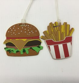 AUSTIN HOUSE HAMBURGER AND FRENCH FRIES LUGGAGE TAG AH24HB01 099