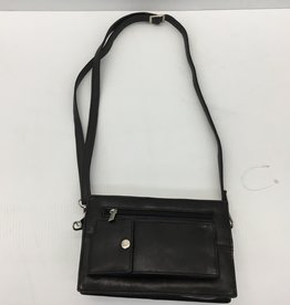 P51 BLACK LEATHER UNISEX BAG