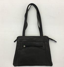 SGI LEATHERGOODS 1068 BLACK LEATHER BAG