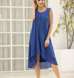 31314 BLUE BAMBOO SLEEVELESS DRESS
