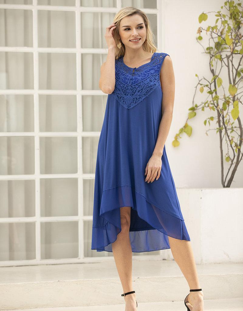 BAMBOO SLEEVELESS DRESS 31314 BLUE