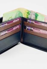 SGI LEATHERGOODS LEATHER ZIP AROUND  RFID WALLET 609