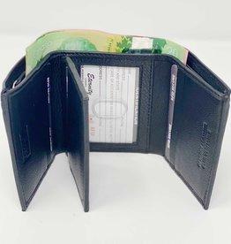 SGI LEATHERGOODS 611 RFID TRIFOLD LEATHER BLACK