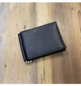 K307 BLACK LEATHER MONEY CLIP