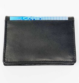 SGI LEATHERGOODS 636 BLACK RFID WALLET CARD CASE