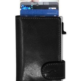 TONY PEROTT IBER-3768 BLACK LEATHER RFID WALLET