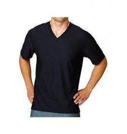 EXOFFICIO MEDIUM BLACK V NECK T SHIRT