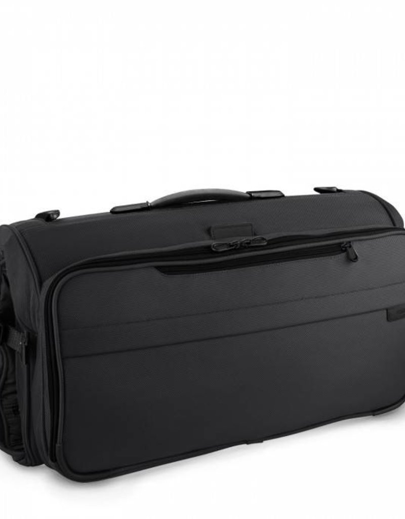 BRIGGS & RILEY 375-4 BLACK COMPACT GARMENT BAG