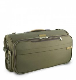 BRIGGS & RILEY OLIVE COMPACT GARMENT BAG