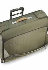 BRIGGS & RILEY U176-7 OLIVE DELUXE WHEELED GARMENT BAG