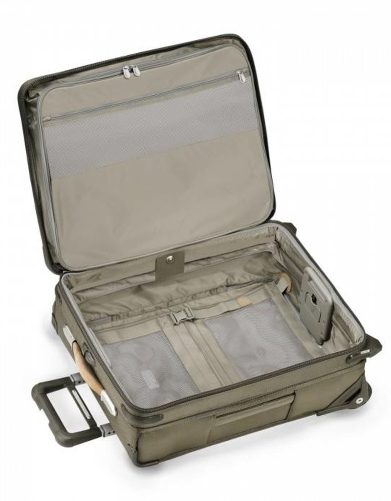 BRIGGS & RILEY U121CXW-7 OLIVE INT'L CARRYON EXPANDABLE WIDE BODY UPRIGHT
