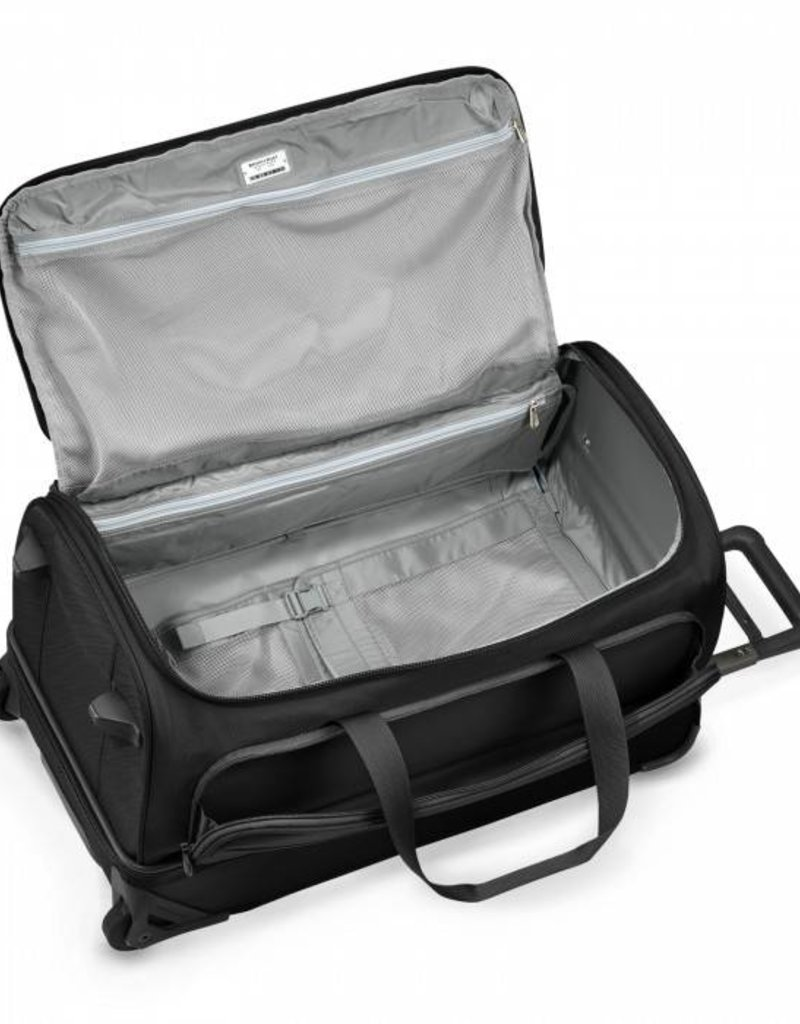 BRIGGS & RILEY UWD127-4 BLACK MEDIUM UPRIGHT DUFFLE