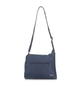 PACSAFE DAYSAFE SLIM CROSSBODY NAVY POLKA
