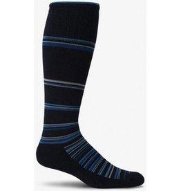 SOCKWELL MEDIUM/LARGE Black Blue Stripe