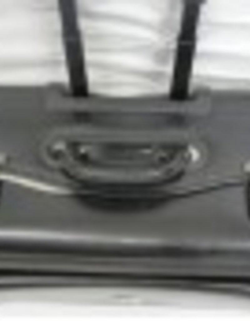 NT0803 BLACK LEATHER WHEELED SAMPLE CASE