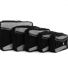 HEYS PACKING CUBE 5PC BLACK ECOTEX